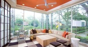 Sự kết hợp giữa không gian và trần nhà cũng được chú trọng