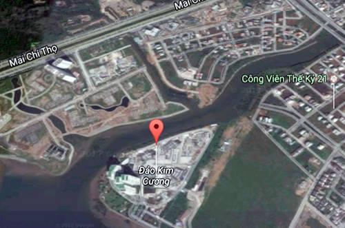 cầu bắc qua đảo kim cương quận 2